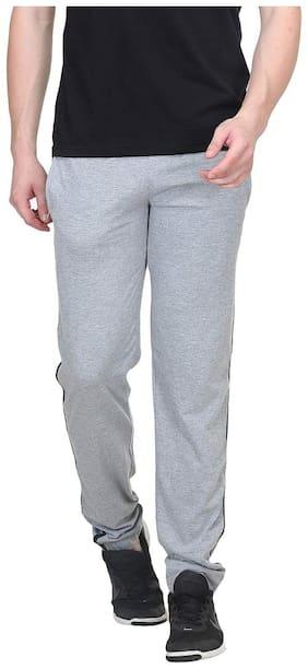 Bodyactive Men Grey Solid Loose fit Track pants