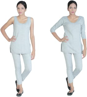 Bodysense Women Cotton Thermal Set - Grey