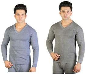 Bodysense Men Blended Thermal top - Blue & Grey