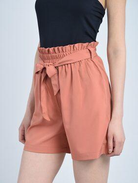BOHOBI Women Solid Shorts - Orange