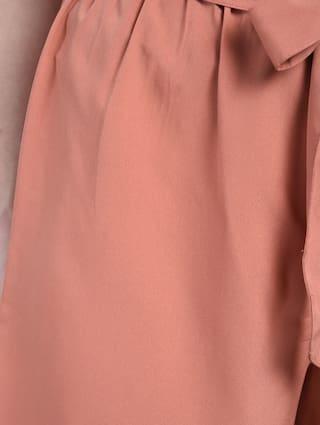 Bohobi Knot Pastel Orange Shorts Women FFO8Pq1