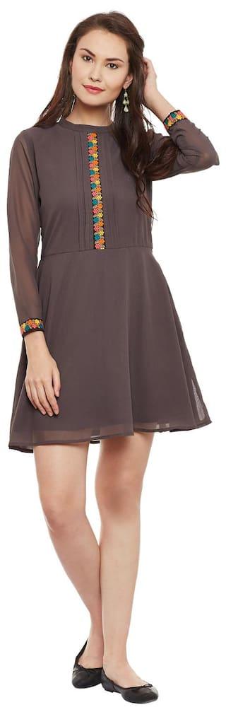 and Grey Bohobi Flare Women's Dress Length Knee Fit qZAIEz