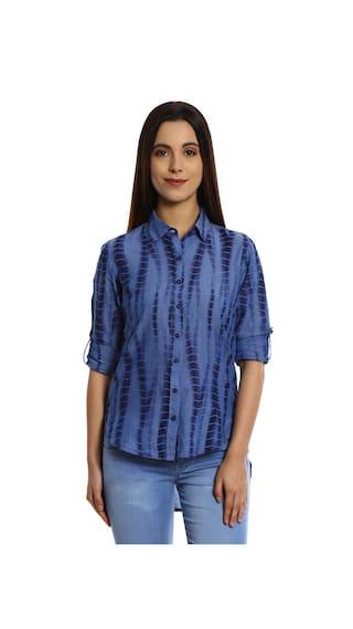 Bombay High Blue Cotton Shirt