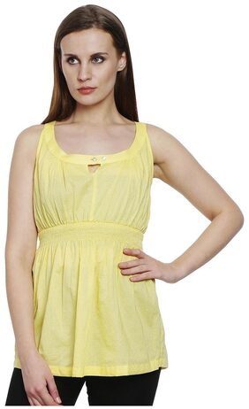Bombay High Yellow Polyster Slim Fit Top