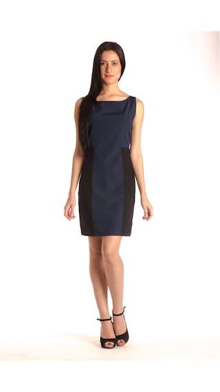 Blue Length Bombay Dress High Knee A Midi line wAZFq