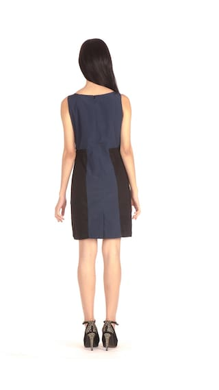 Blue Length Bombay Dress High Knee A Midi line wAZFq