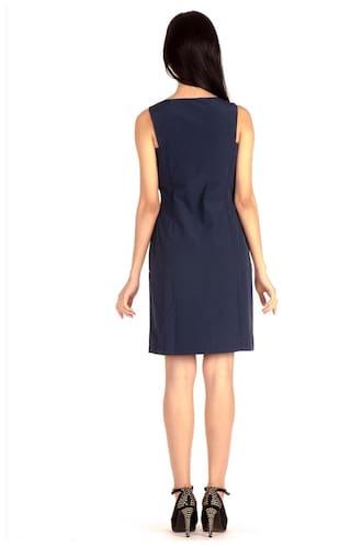 High Bombay Midi Dress Dark Blue Sheath Knee Length axHdgxTZ