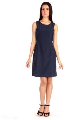 Bombay High Dark Blue Midi Knee Length Sheath Dress