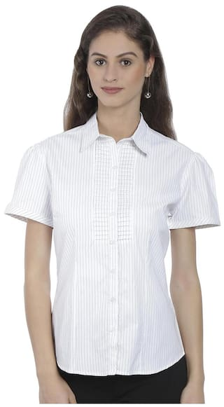 White Shirt Cotton Poly High Bombay 81XqYT