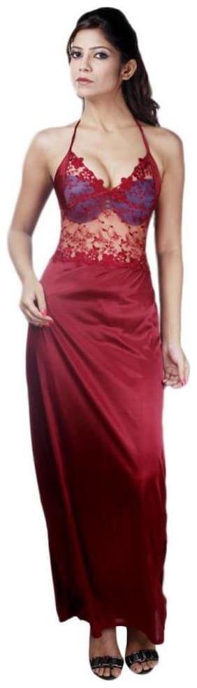 Boosah Maroon Night Gown