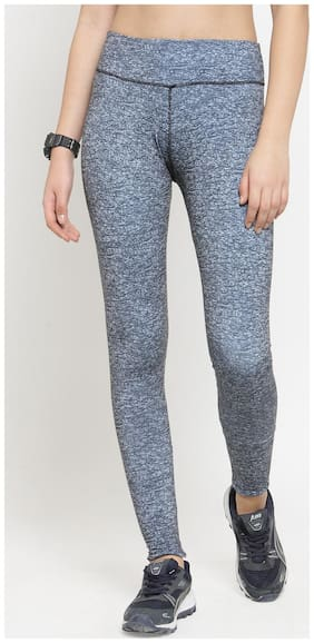 Boston Club Women Regular fit Polyester Printed Track pants - Blue