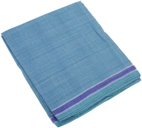 BOVZEN Cotton Solid Regular dhoti Dhoti - Blue