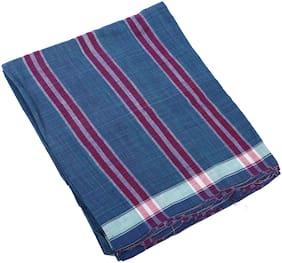 BOVZEN Handloom Striped Regular dhoti Dhoti - Blue