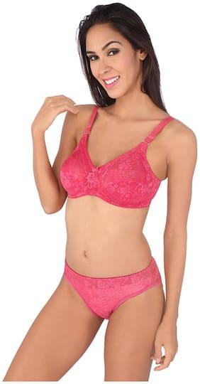 Bralux Pink Lace Lingerie Set