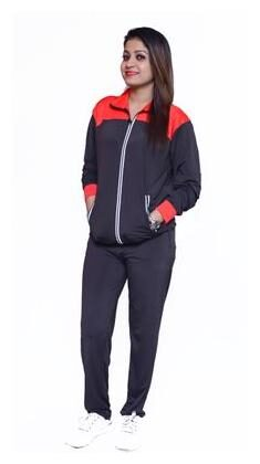 Branded Full Sleeve Multicolor Zip Closer Sporty Track Suit for Girl's and Women's
