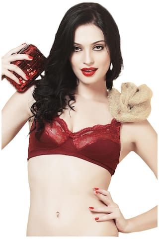 b56c999b33e Buy Bwitch Maroon Cotton Seamless Bra Online at Low Prices in India ...