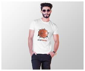 BRILL FEEL Men White Regular fit Cotton Blend Round neck T-Shirt - Pack Of 1