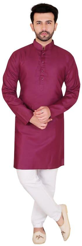 Brinley Purple Solid Kurta and Pyjamas
