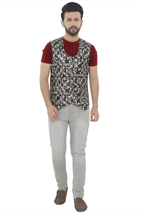 Brinley Men Blended Regular fit Waistcoat - Multi