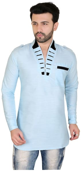 Brinley Men Turquoise Regular Fit Kurta