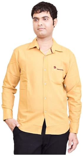 British Terminal Beige Cotton Casual Shirt