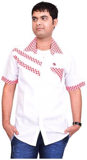 British Terminal White Linen Slim Fit Casual Shirt