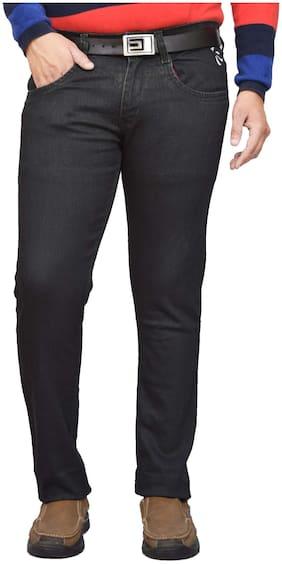 British Terminal Men Black Slim Fit Jeans
