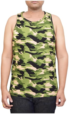 British Terminal Camoflage milatery Print Army  Cotton  regular fit Printed sleeveless Vest (Sando) Tshirt for men