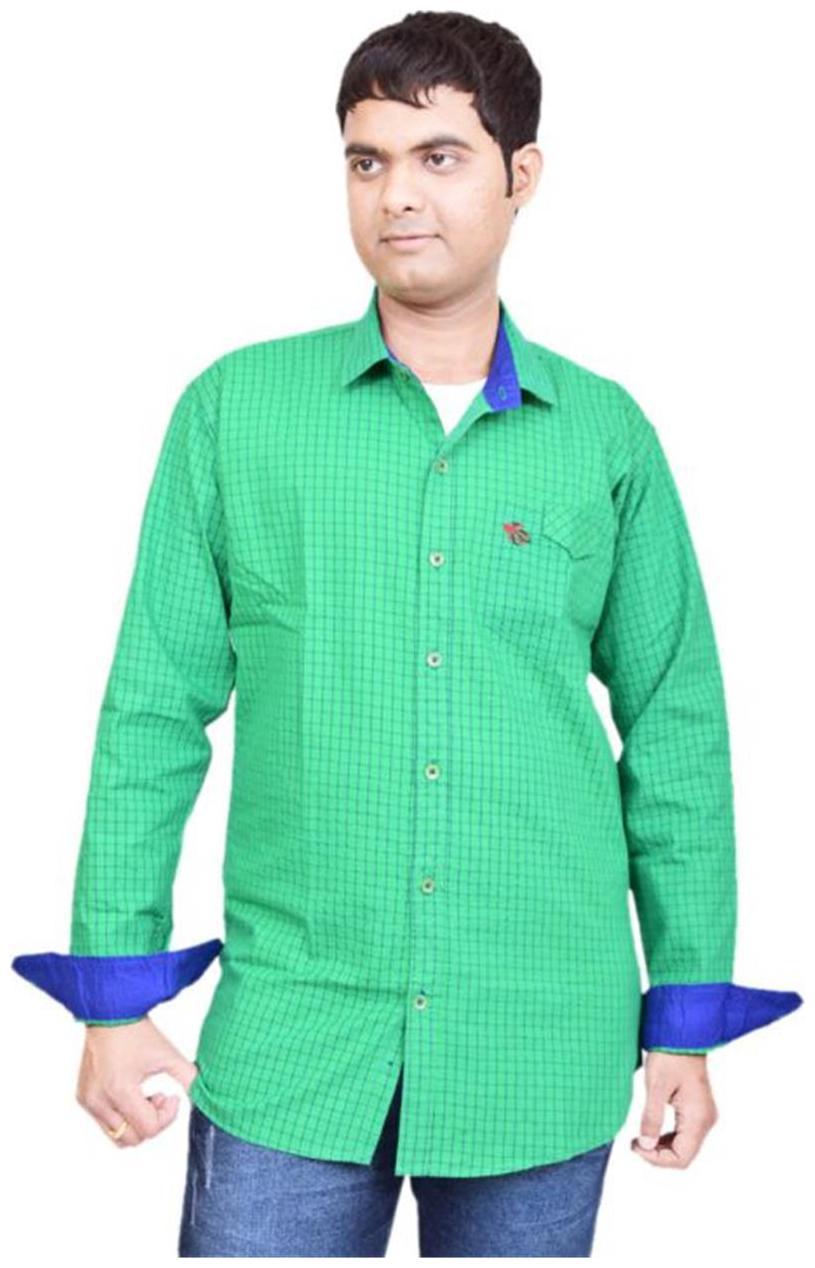 British Terminal Green Casuals Men Shirt