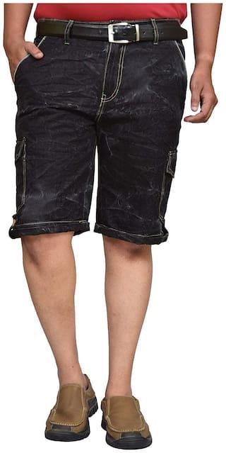 British Terminal denim stretchable shorts  for men