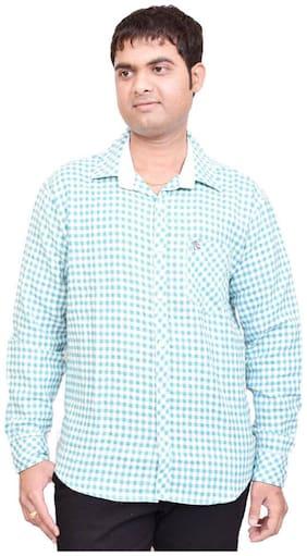 British Terminal Green Cotton Casual Shirt