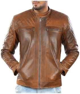 Brown Leather Jacket By Leatherclue