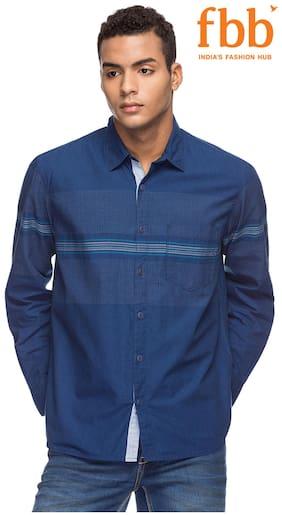 Buffalo Abstract Print Regular Fit Denim Shirt