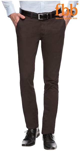 cf5061b9304 Buy Buffalo Brown Slim Fit Chinos Online at Low Prices in India ...