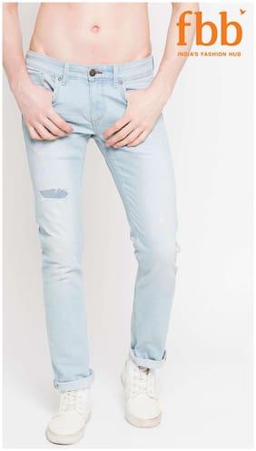 Buffalo Distressed Low Waist Mens Blue Jeans