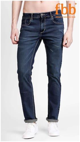 Buffalo Distressed Slim Fit Mens Blue Jeans