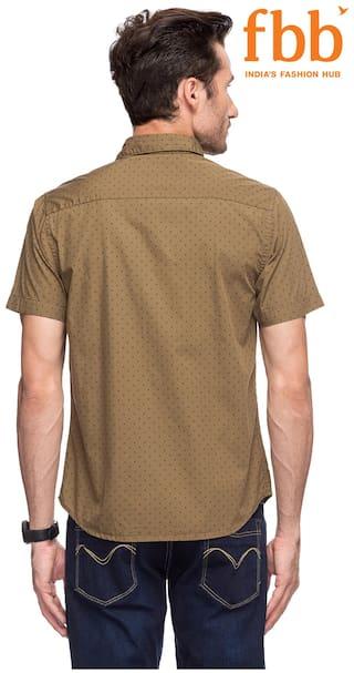 Buffalo Regular Casual Olive Printed Shirt Fit 93oixhDTJ