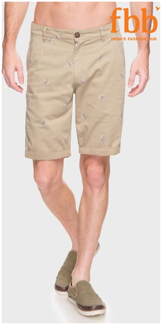 Buffalo Men Cotton blend Shorts - Beige