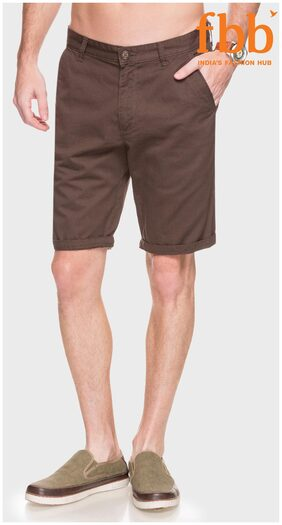 Buffalo Men Cotton Blend Shorts - Brown