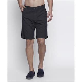 Buffalo Printed Mens Black Chino Shorts