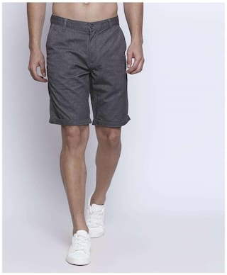 Buffalo Printed Mens Grey Chino Shorts