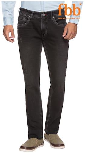 Buffalo Men's Mid Rise Slim Fit Jeans - Black