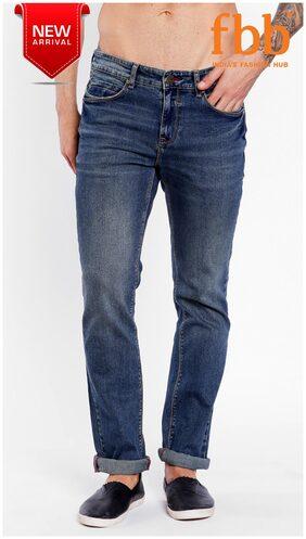 Buffalo Men's Mid Rise Regular Fit Jeans - Blue