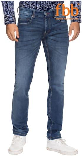 Buffalo Men's Mid Rise Slim Fit Jeans - Blue