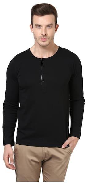 Men Henley Neck Solid T-Shirt ,Pack Of Pack Of 1