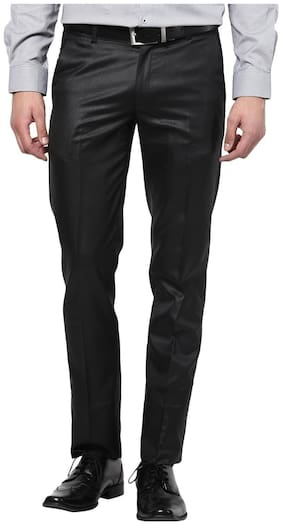 Men Slim Fit Formal Trouser Pack Of 1