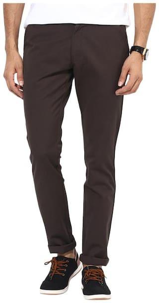 BUKKL Coffee Slim Fit Casual Trouser