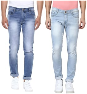BUKKL Men High rise Skinny fit Jeans - Blue