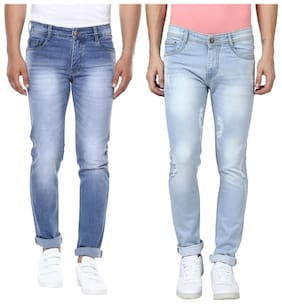 Men Slim Fit High Rise Jeans Pack Of 2