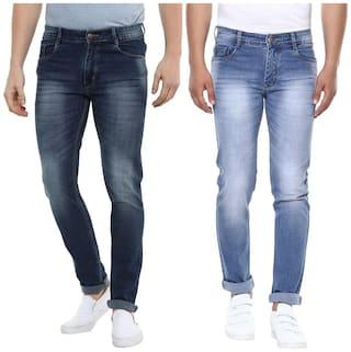 BUKKL Men Mid rise Slim fit Jeans - Blue